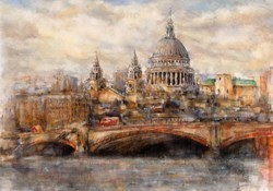 St Paul's by Gary Benfield - Hand Finished Limited Edition on Canvas sized 24x17 inches. Available from Whitewall Galleries